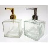 frasco de vidro para sabonete líquido