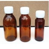 vidro âmbar esterilizado